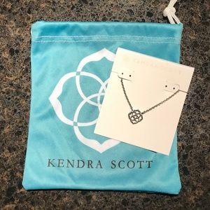 Kendra Scott Logo Silver Necklace